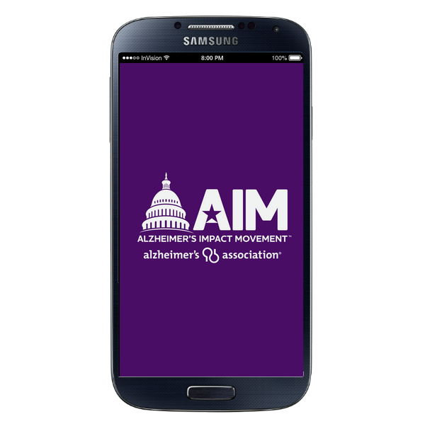 Mobile Application - AIM - Android - Home Screen